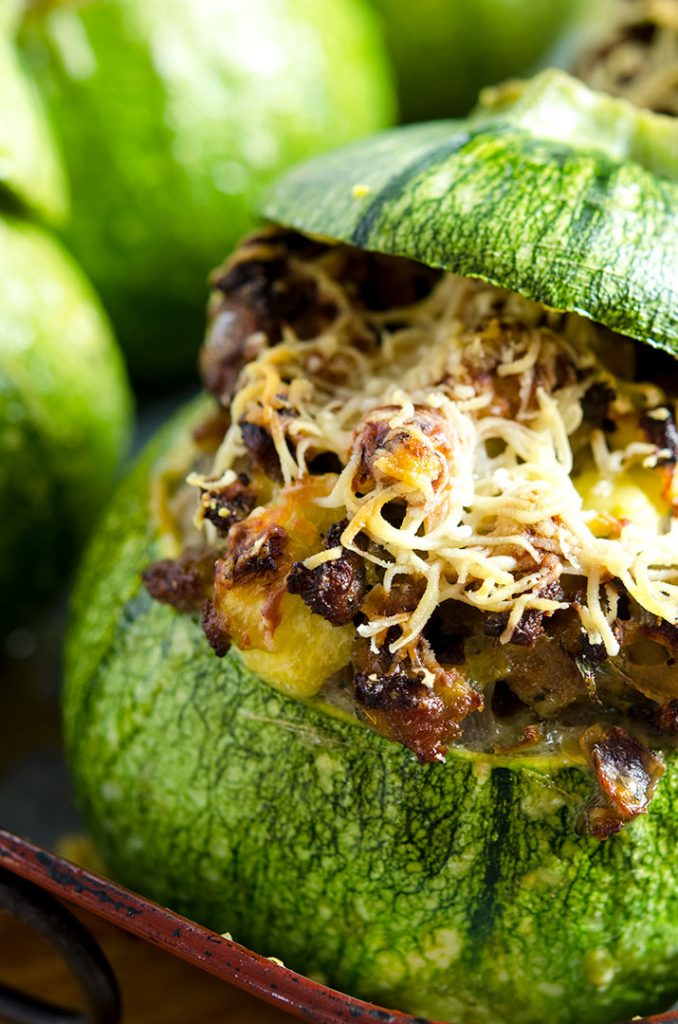 These stuffed zucchini have sausage, egg, fresh herbs, onions, shallots and more... I guess you could say they are stuffed with flavor!