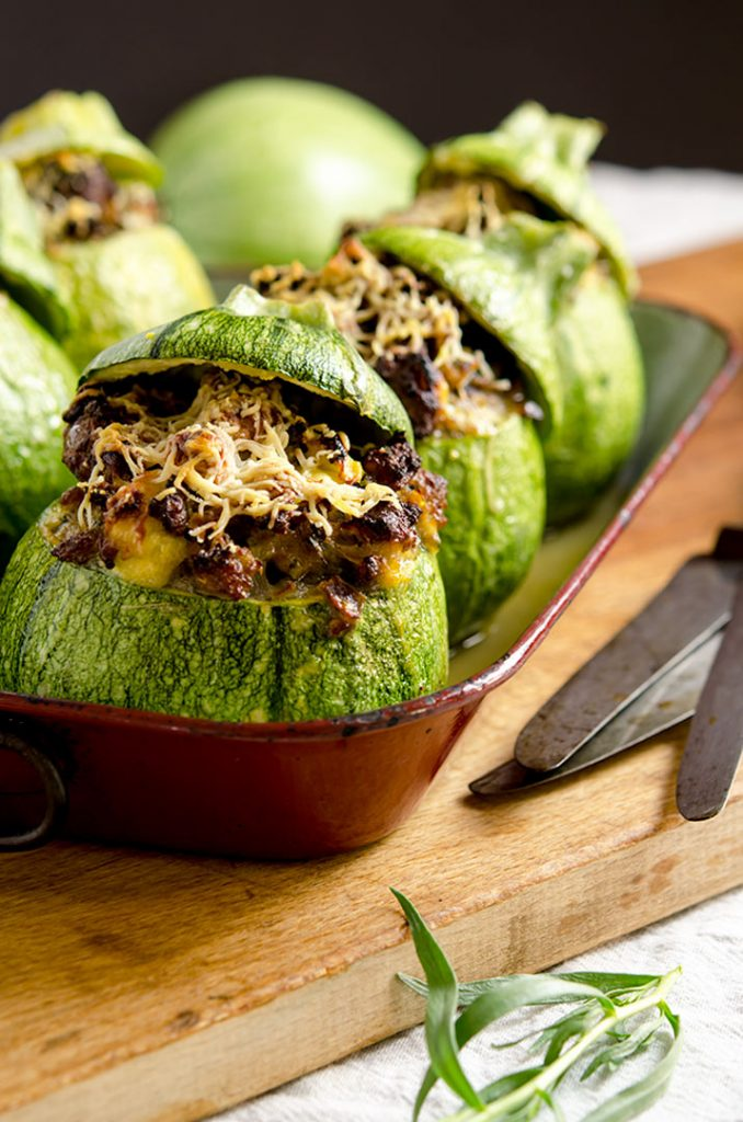 Stuffed zucchini make a super filling, low carb, gluten free breakfast or brunch. They are awesome.