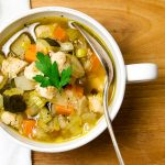 My chicken vegetable soup recipe is really chunky. Each bowl is like a meal. Delicious every time.