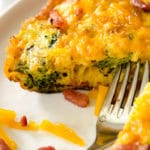 """An 8 or 9"""" skillet works wonders for this yummy, cheesy egg frittata. Perfect to split for two people."""