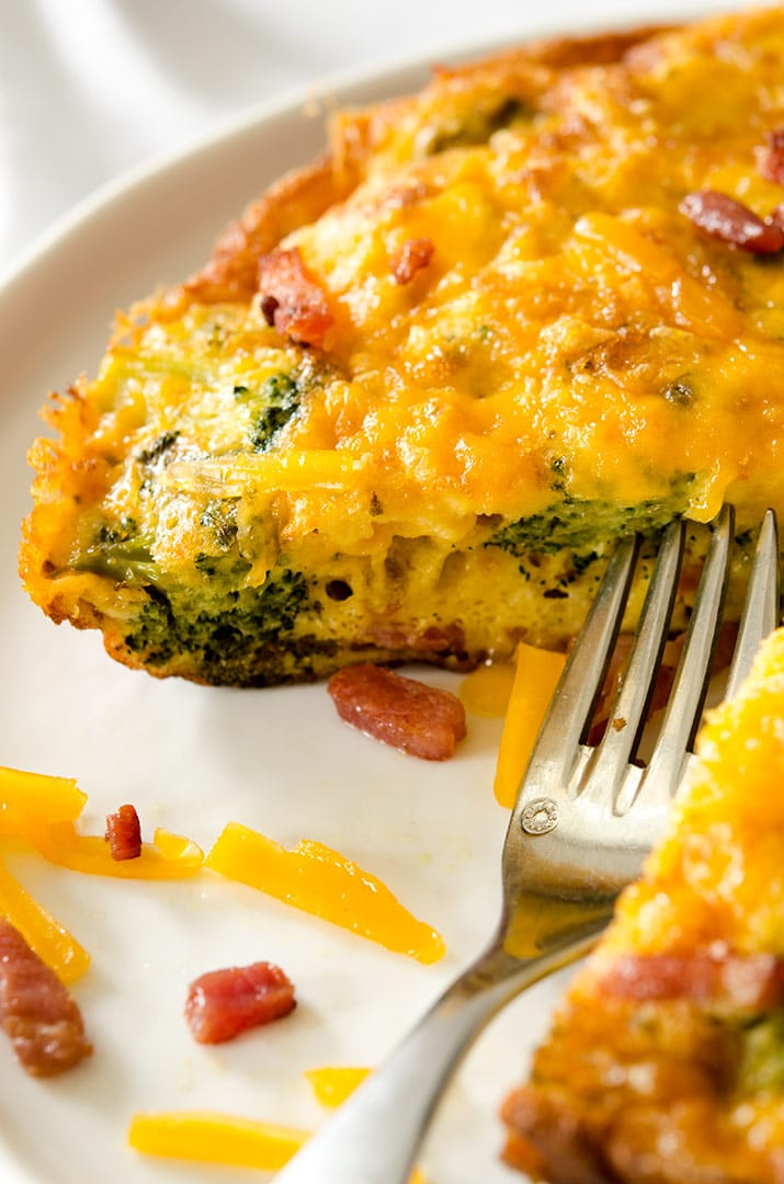 "An 8 or 9"" skillet works wonders for this yummy, cheesy egg frittata. Perfect to split for two people."