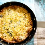 A completely French style frittata recipe with leeks, mushrooms and comte shredded cheese. Absolutely fantastic.