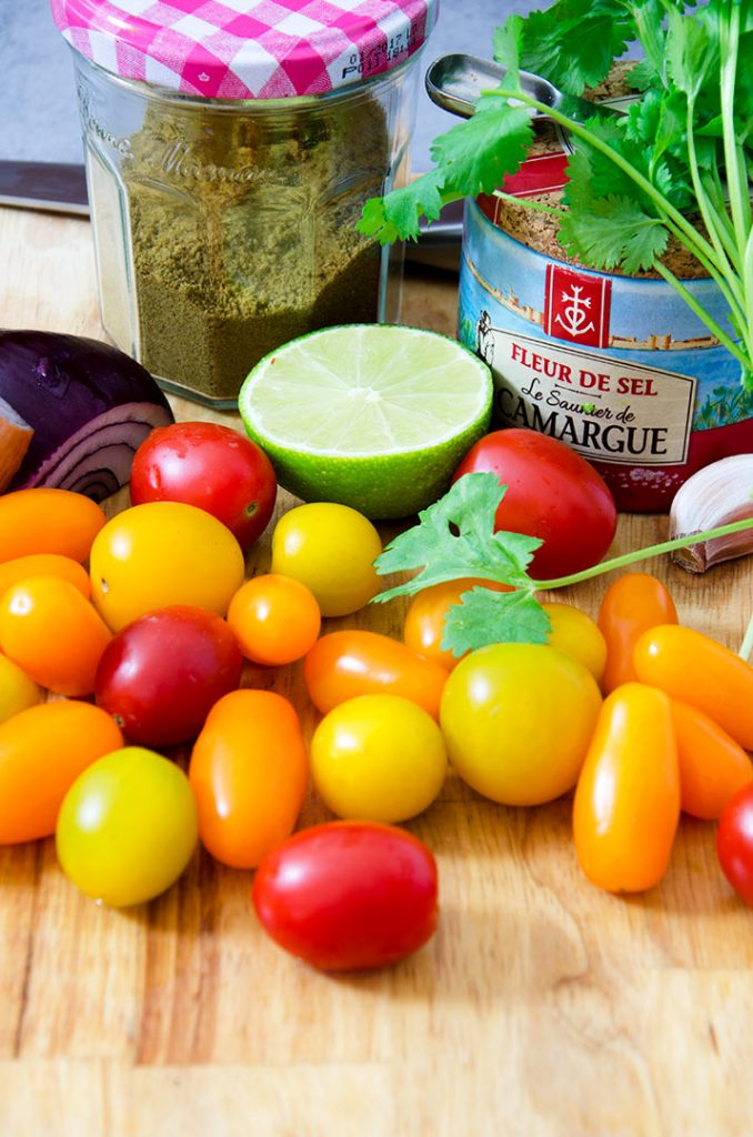 A good salsa goes a long way on a southwestern salad. Make with a yummy tomato medley mix with red onions, garlic and lime.