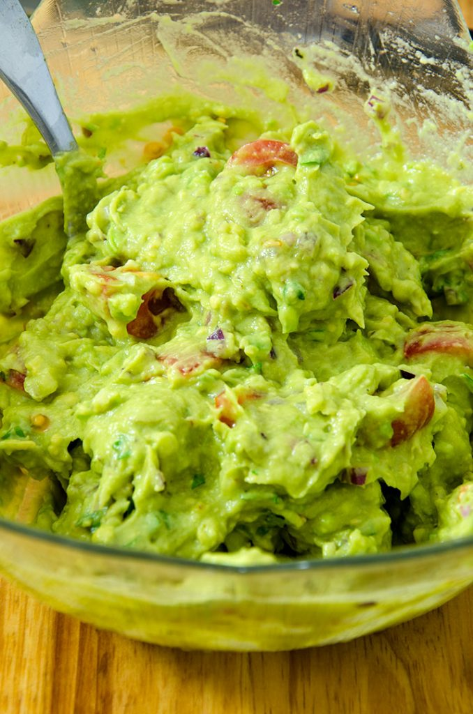 Load this guacamole high on top of your southwestern salad. It's so good.