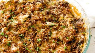 Baked Brussel Sprouts Au Gratin