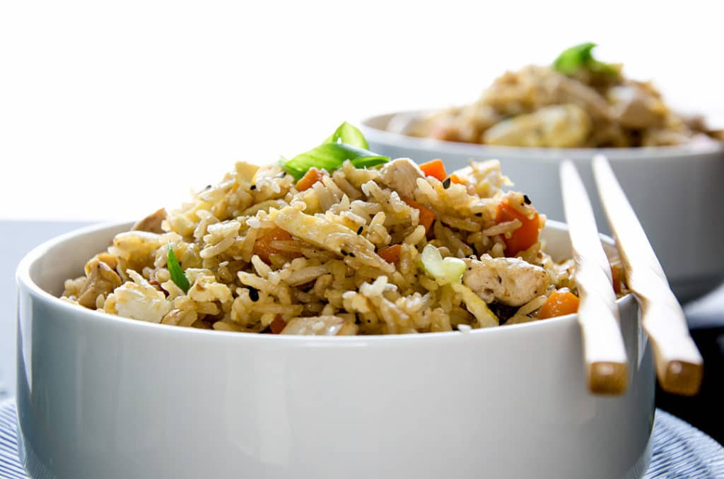 This fried rice recipe is simple to make and tastes better than fried rice from a restaurant!