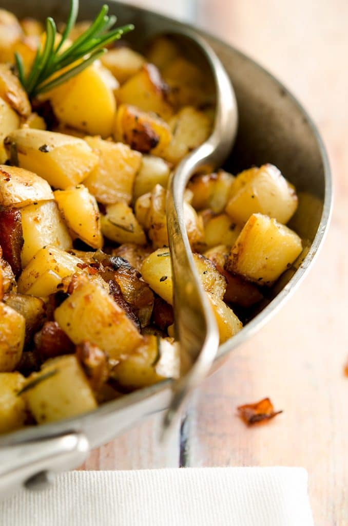 If I could pick up this spoon and scoop some of these yummy homemade hash browns right onto my plate... I would. So good!