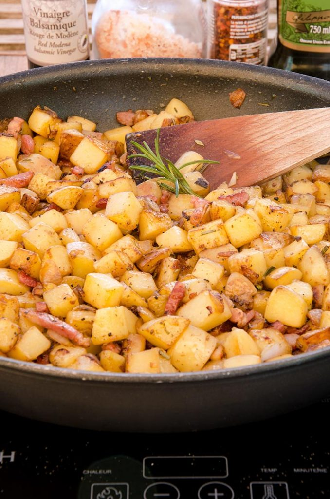 This batch of homemade hash browns is ready for the table. Make sure that you taste and adjust the seasonings to your preference!