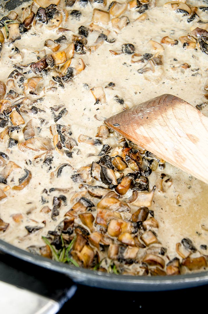 A good stuffed chicken breast recipe has a great sauce. Welcome to a mushroom cream sauce. Delightful.