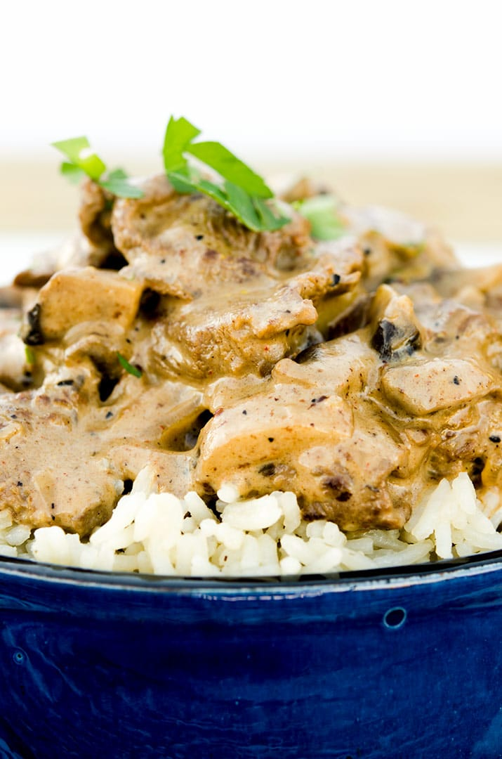 Check out just how rich and luscious this beef stroganoff recipe looks... it tastes even better. Give it a try today!