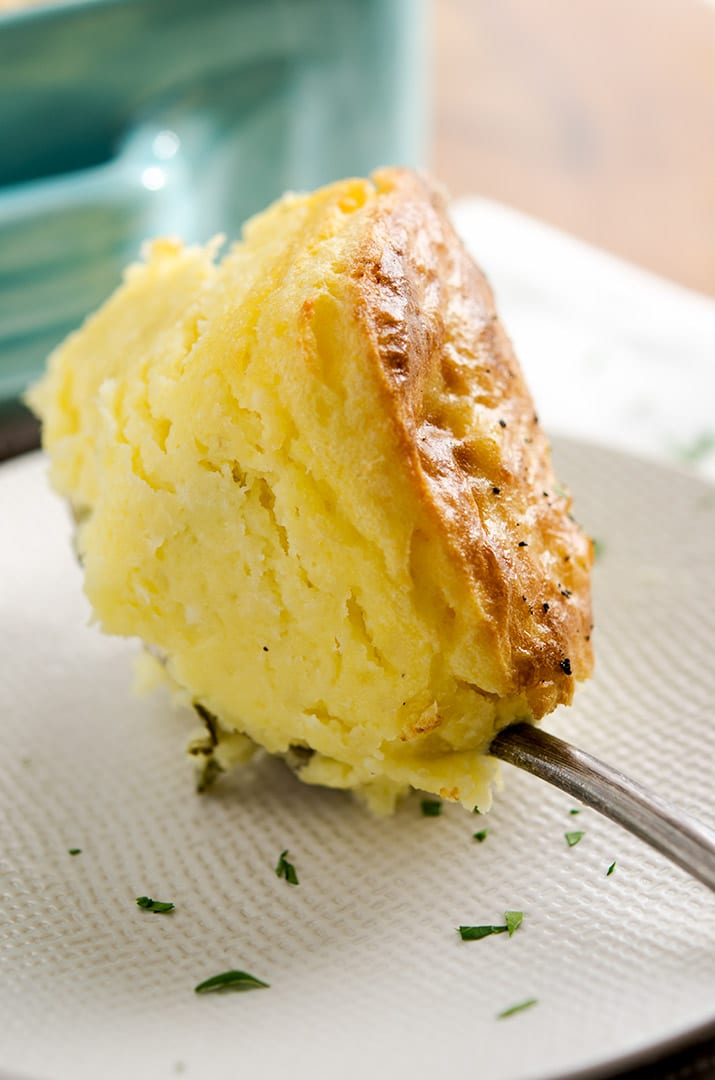 My mashed potato recipe has a browned crust and is super light.