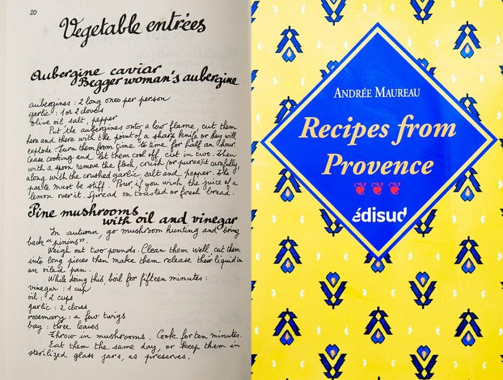 I found this marinated mushrooms recipe in the Recipes from Provence cookbook and updated it to my own.
