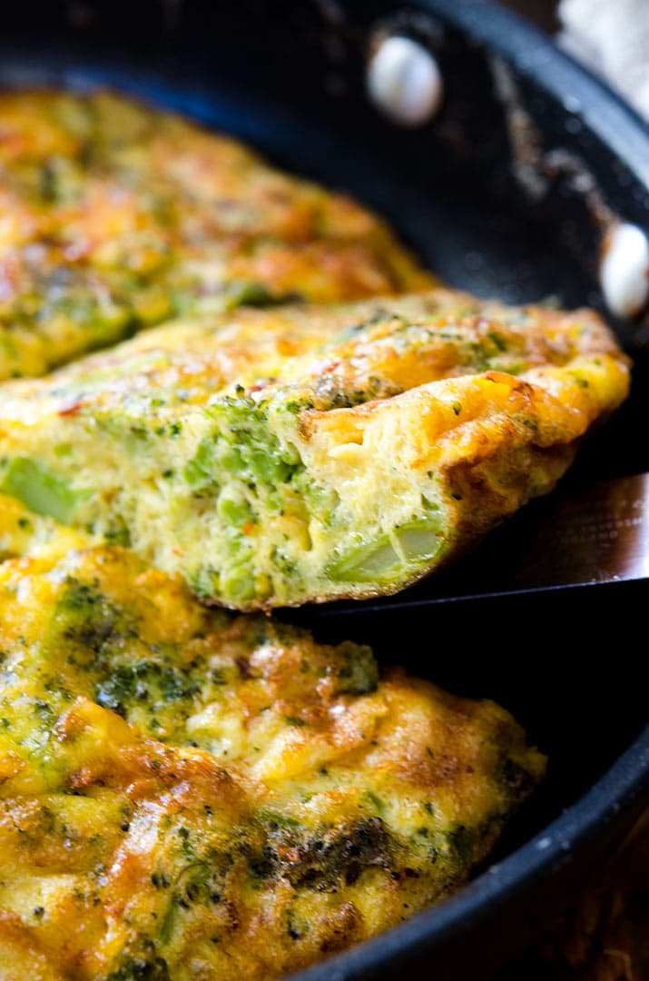 Incredibly tasty and easy to make: the Broccoli Cheddar Frittata