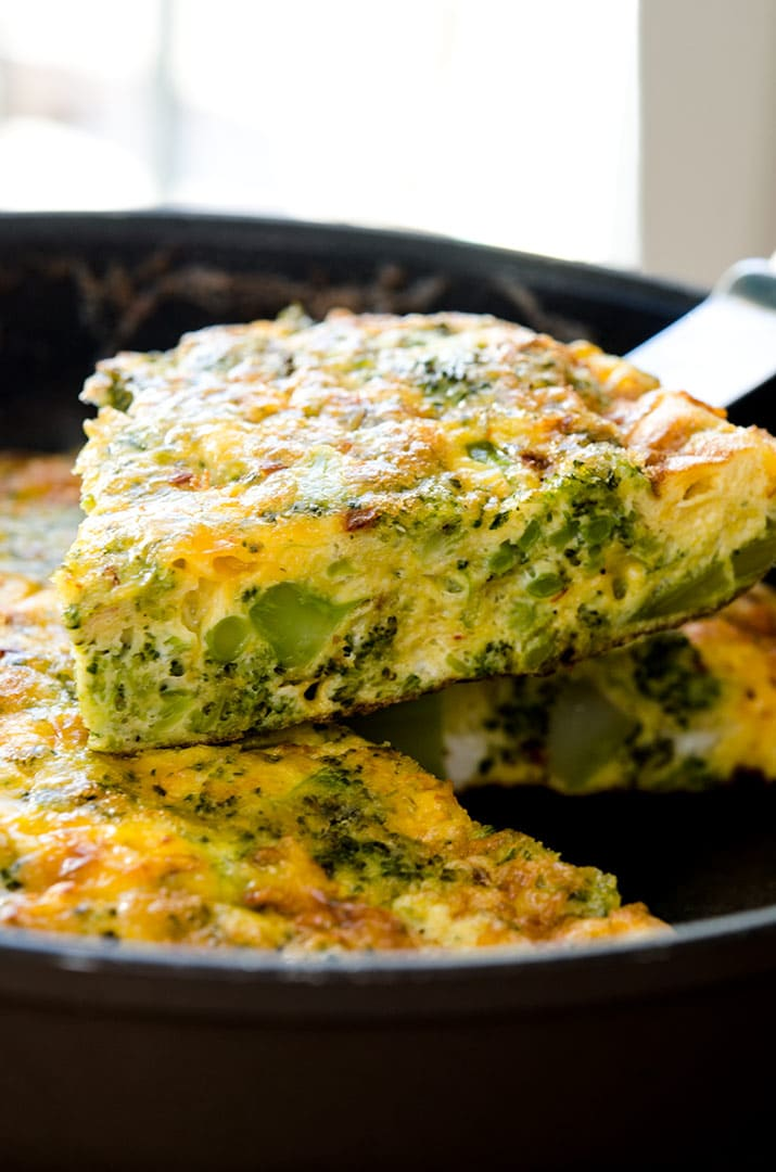 Broccoli Cheddar Frittata Yummy Simple Make It Today