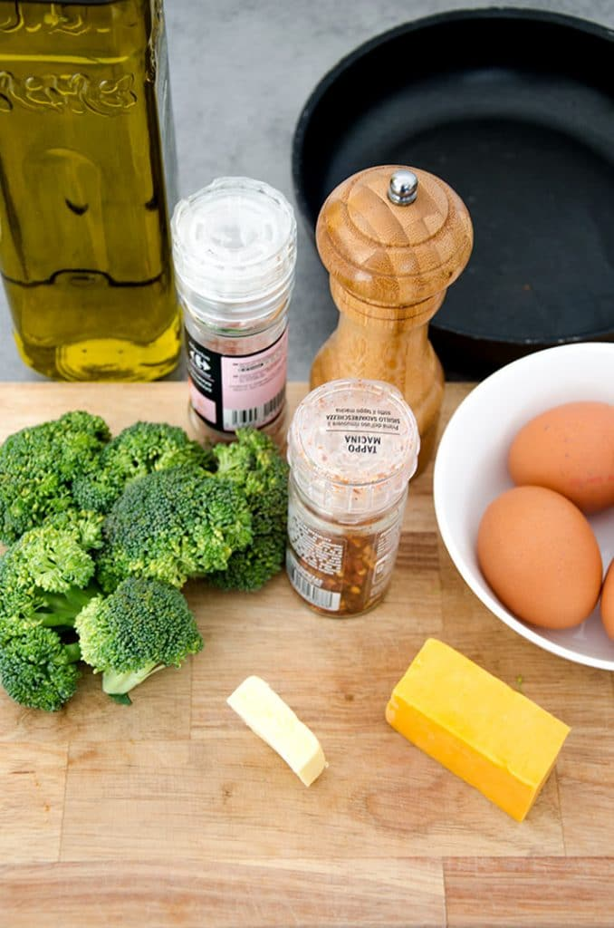 This broccoli cheddar frittata recipe is super simple to make.