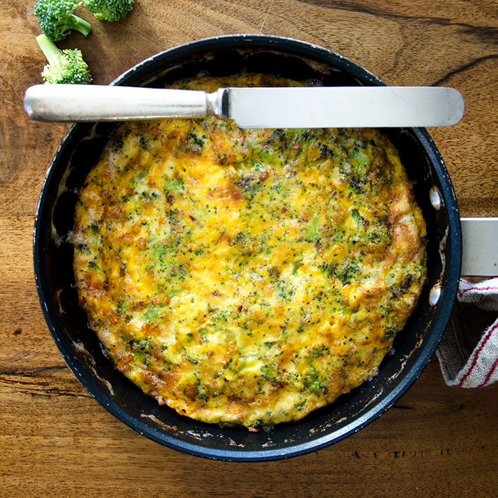 A Broccoli Cheddar Frittata to Love!