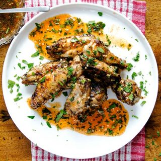 Awesome lemon garlic chicken wings recipe packed with flavor.