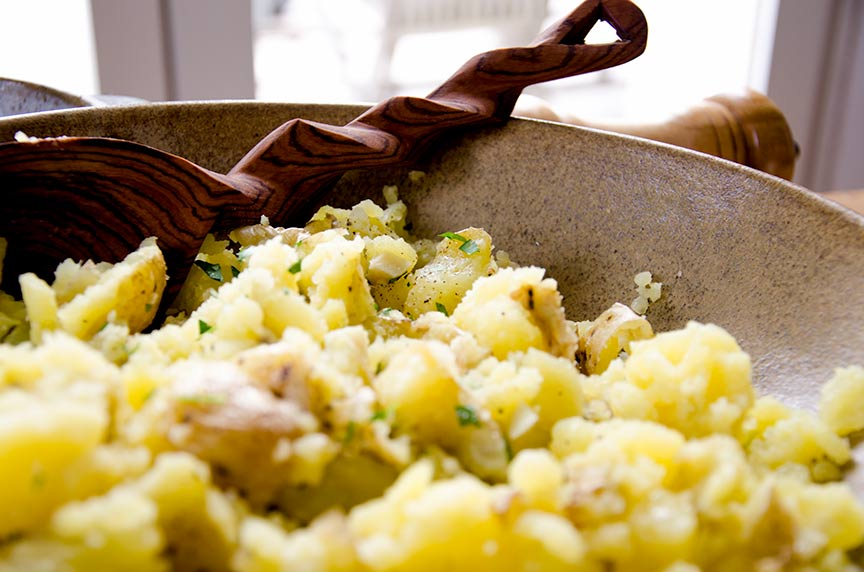 Delicious roasted garlic mashed potatoes