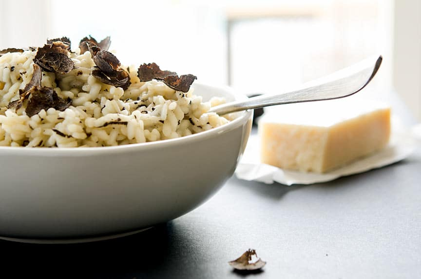 winter truffle risotto with parmesan