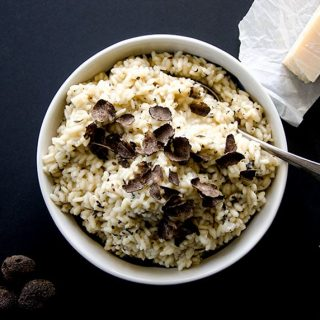 My delightful black truffle risotto recipe will showcase your prized truffle and deliver huge flavor.