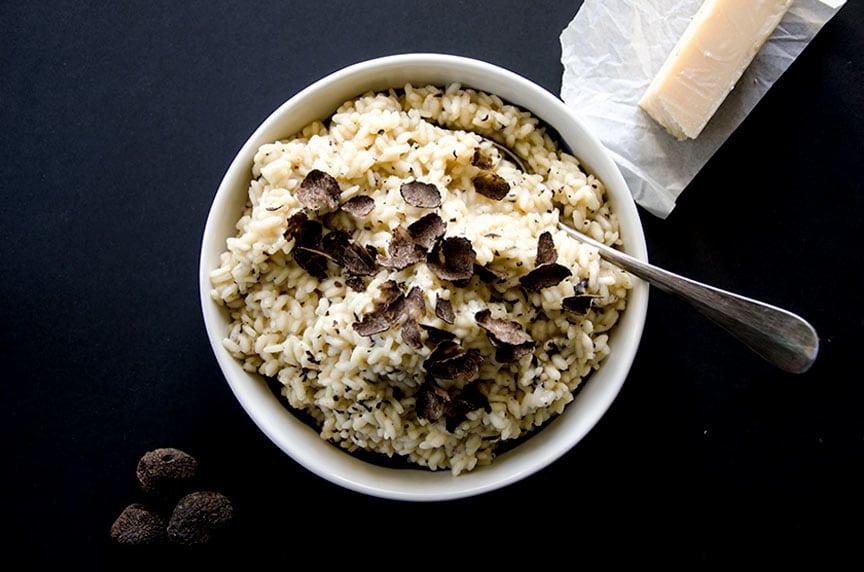 Delicious black truffle risotto... so creamy and rich!
