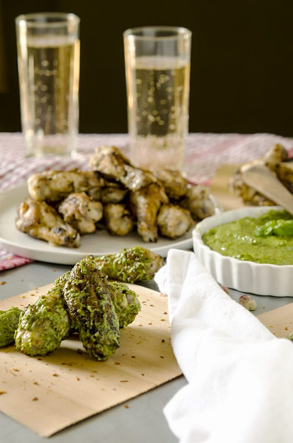 These pesto chicken wings are completely unexpected.