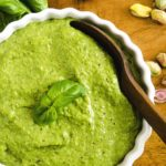 A beautiful, light, fluffy and delicious pistacho pesto.