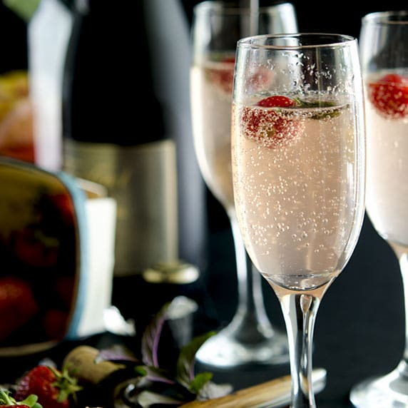 Summer Fling Champagne Cocktail