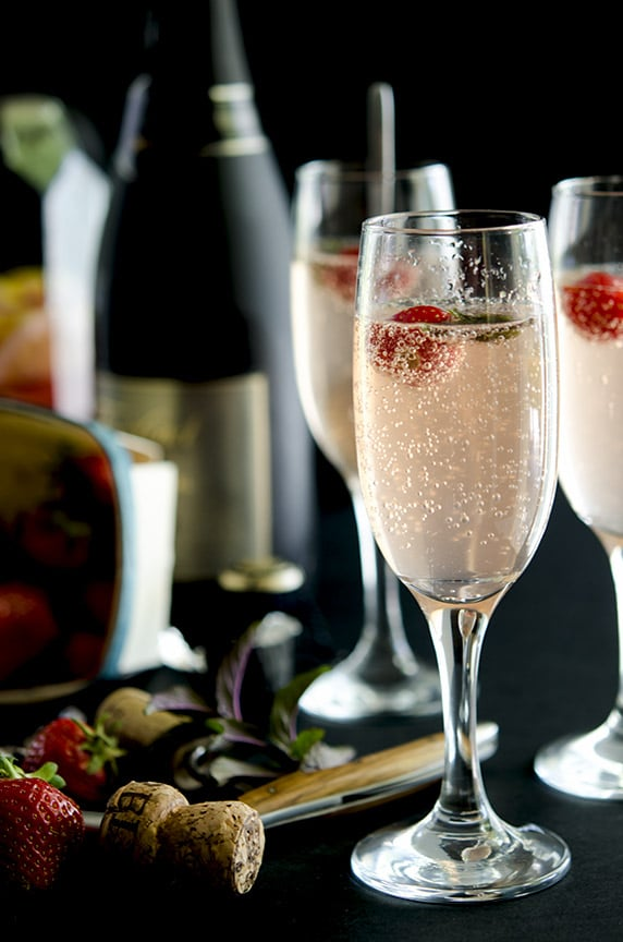 The Summer Fling is the perfect mix of champagne, strawberries, lemonade and rose.