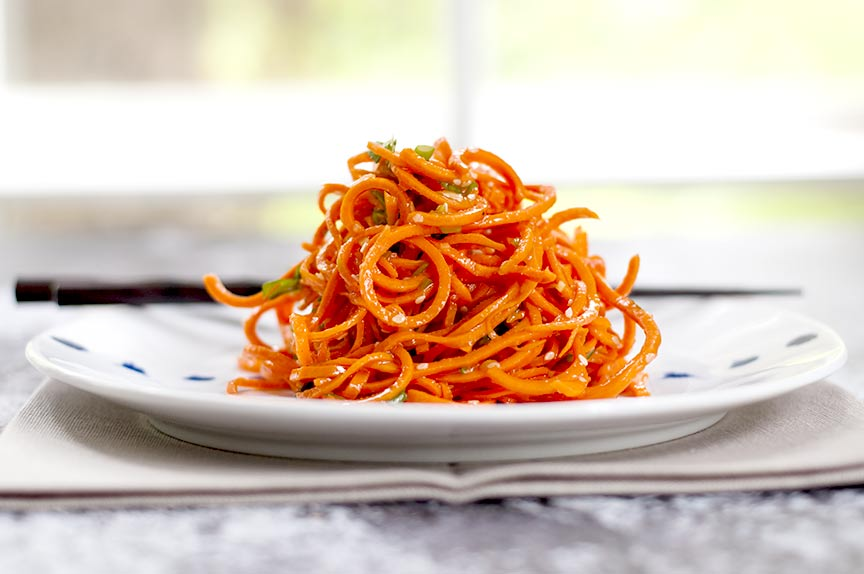 low carb asian carrot salad