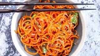 Spiralized Asian Carrot Salad