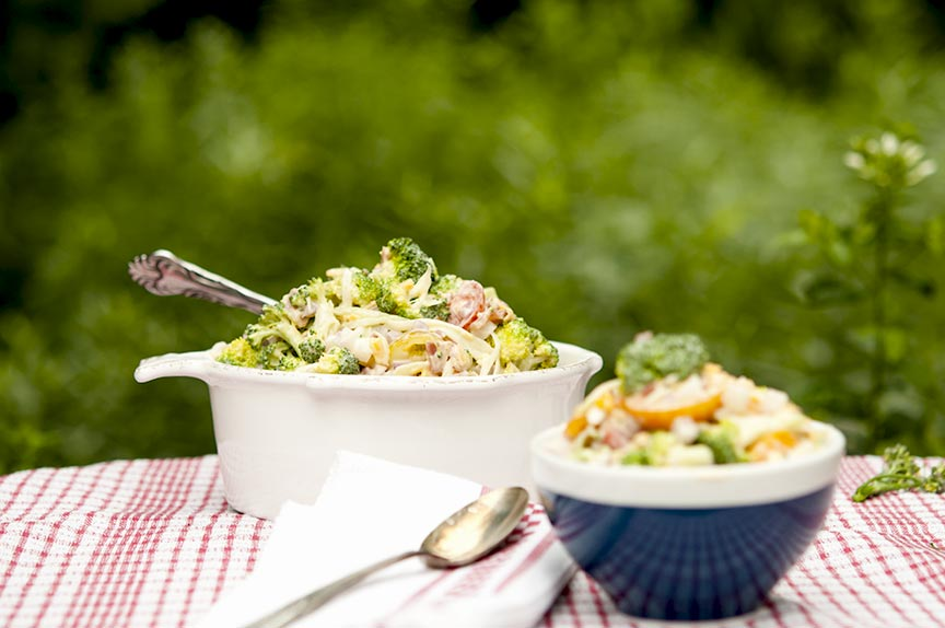 Fresh low carb broccoli salad
