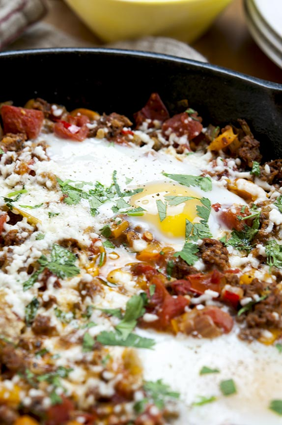 gluten free chorizo egg skillet