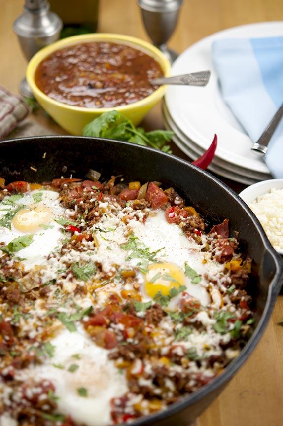 chorizo egg skillet