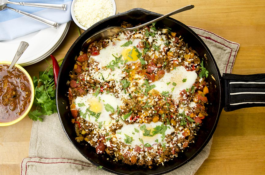 low carb chorizo egg skillet