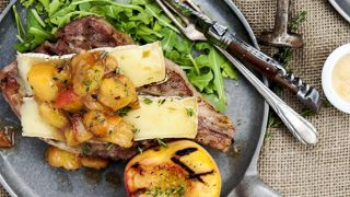 Grilled Pork Chops with Peach Compote
