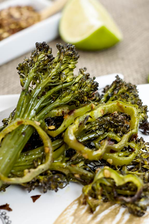gluten free spicy roasted broccolini
