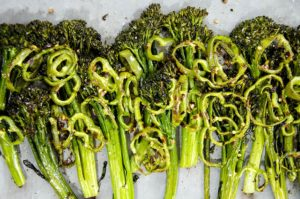Spicy roasted broccolini recipe