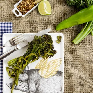 vegetarian spicy roasted broccolini