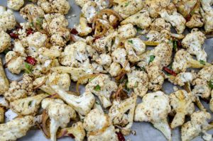 vegetarian spicy roasted cauliflower