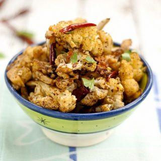 vegetarian spicy roasted cauliflower