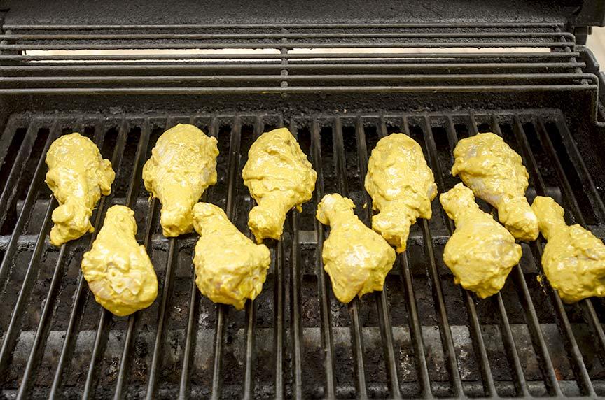 tandoori style grilled chicken legs