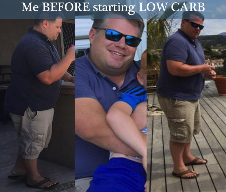 low carb diet success before pictures