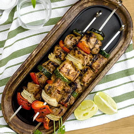 Pork Kabobs: Grilled Southwestern Style