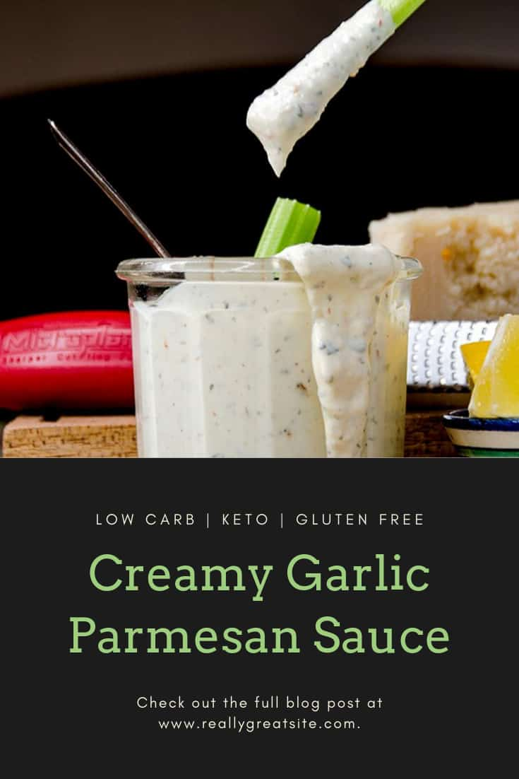 Low Carb and Keto Garlic Parmesan Wing Sauce Recipe