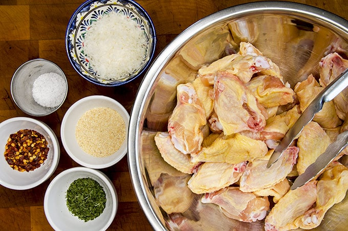 ingredients for Italian Chicken Wings