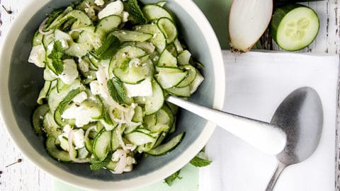 easy keto cucumber feta salad