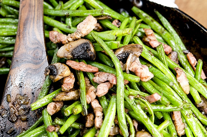 buttered green beans and bacon recipe low carb keto