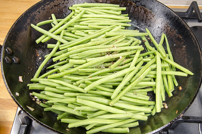 pan seared green beans